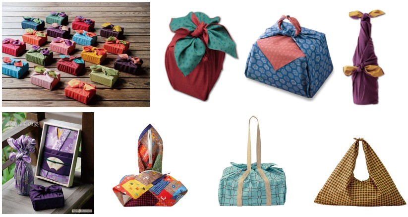 Japanese Furoshiki Wrapping Silk Fabric Double Sides Dyeing Traditional Yuzen Resist dyeing Gift for Birthday Handmade Wrapping Cloth
